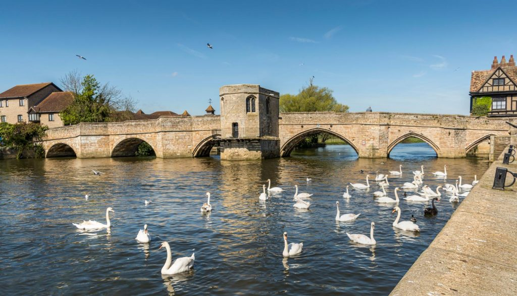 A bridge in St Ives - one of the best UK walking holiday spots